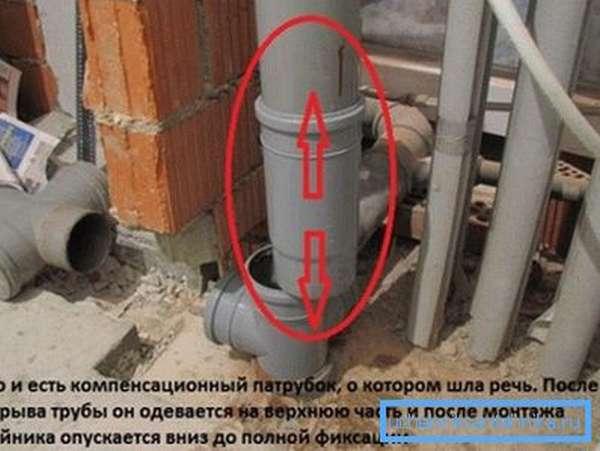 Правильная установка канализационного патрубка
