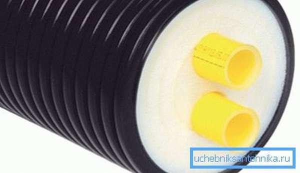 Предизолированные полиуретановые трубы для отопления