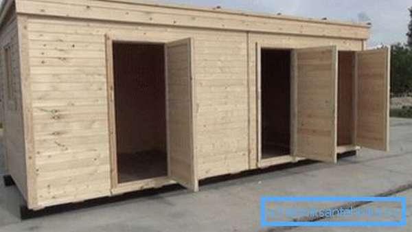 Предстоит построить следующее строение: туалет + душ + хозблок: 3 в 1.