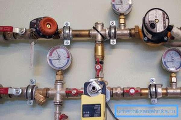 Приборы контроля давления в системе