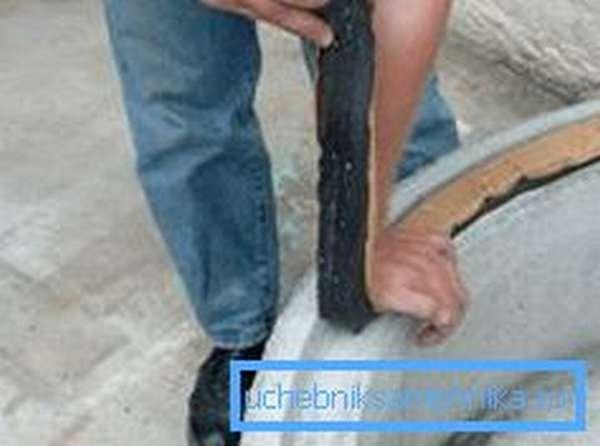 Применение уплотняющей резины