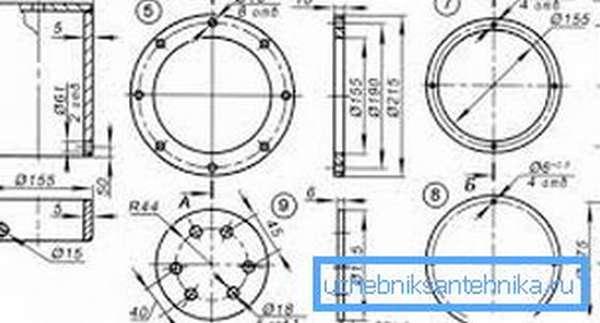 Пример чертежа устройства.