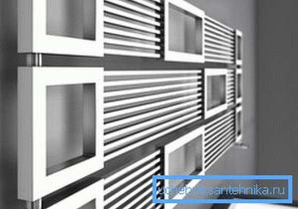 Пример дизайнерского электрического обогревателя