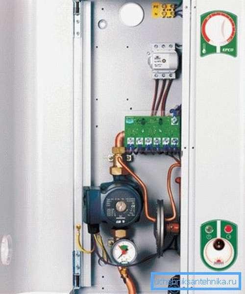 Пример электрического настенного котла