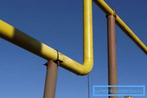 Пример использования отводов в газопроводе