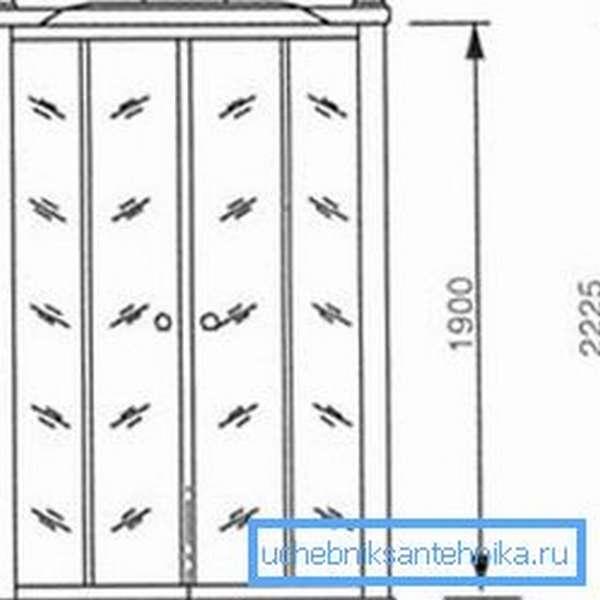 Пример измерения высоты конструкции