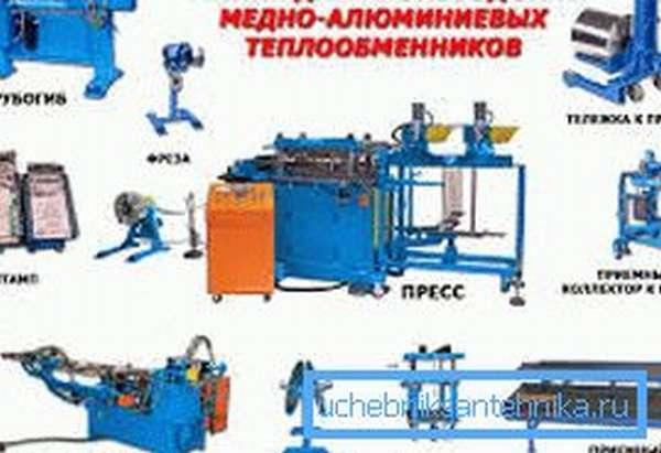 Пример линии для производства рекуператора вентиляции.