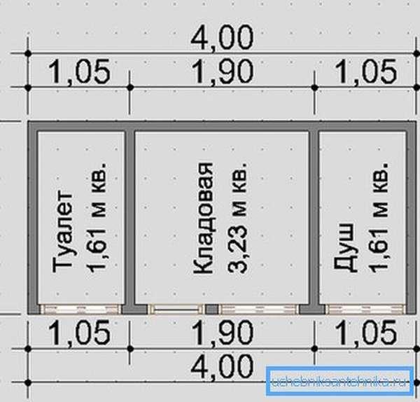 Пример плана, необходимого для строительства хозяйственного блока.