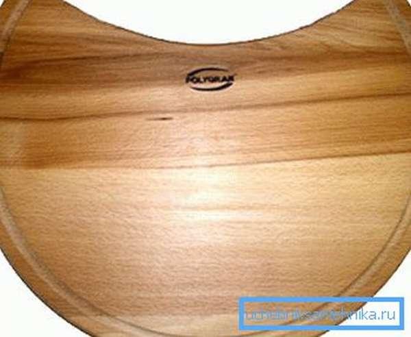 Пример разделочной доски для круглой раковины