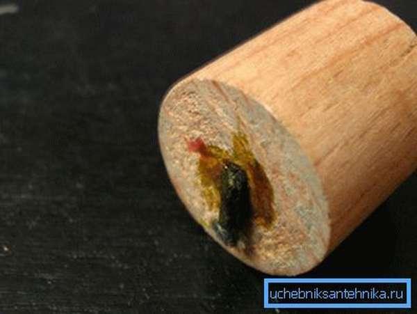 Пример самого простого чопика из древесины