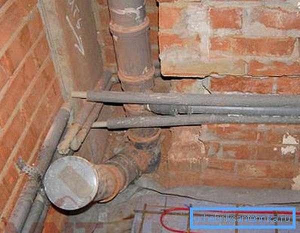 Пример системы, заложенной внутрь стены