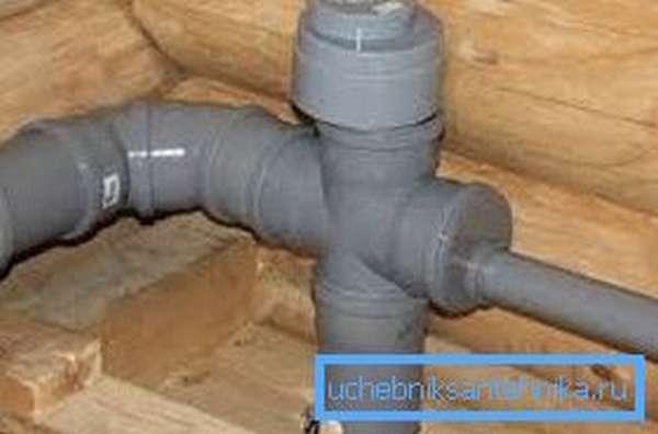 Пример смонтированного клапана на стояке