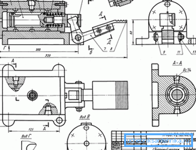 Пример того насколько сборочный чертеж пневматического крана отличается от схемы обычного смесителя