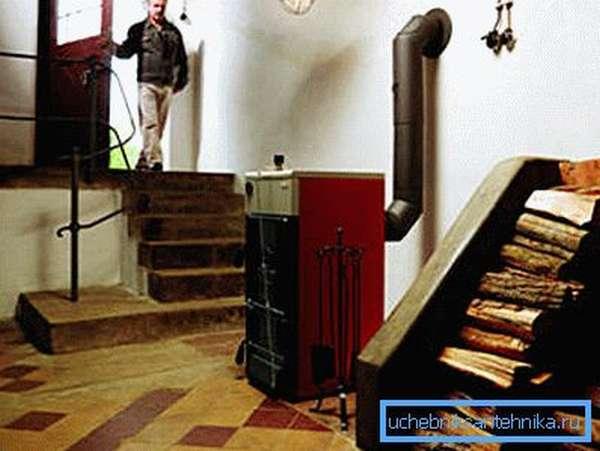 Пример устройства, которое установлено внутри дома