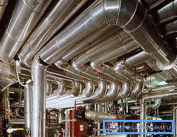 Пример устройства промышленных водопроводов