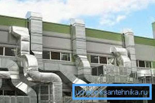 Пример вентиляции промышленного здания