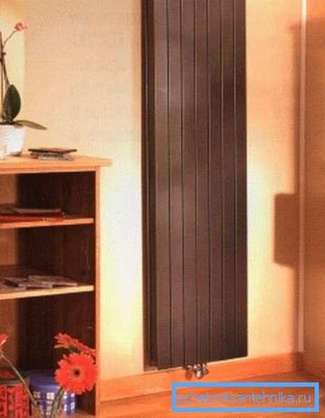 Пример высокой батареи отопления