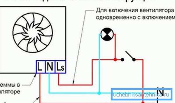 Принцип подключения системы с таймером
