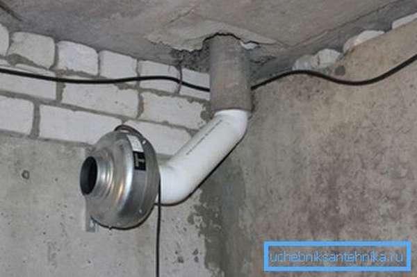 Принудительная вентиляция подвала в доме с помощью специального оборудования