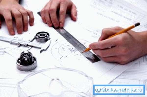 Проектные работы лучше доверить квалифицированному инженеру.