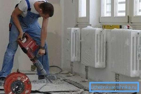 Профессиональная прокладка труб отопления в частном доме