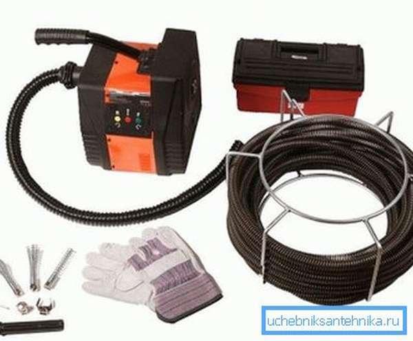 Профессиональное оборудование для прочистки канализационных труб