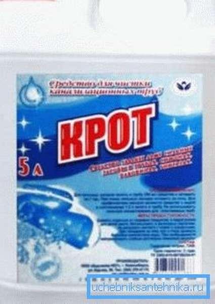 Простейший химический состав, который используют для устранения пробок созданных пищевыми отходами и другой органикой, а также его можно применять для профилактики
