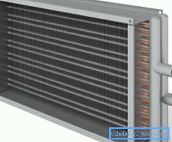 Простейший теплообменник, который часто используется в подобных конструкциях