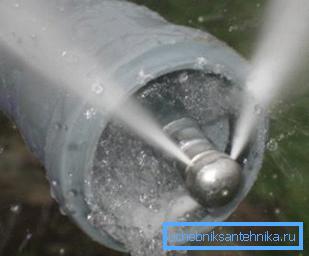 Процесс гидродинамической прочистки