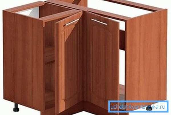 Прямоугольный шкаф с двумя дверцами.