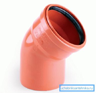 ПВХ-отвод для использования вне зданий