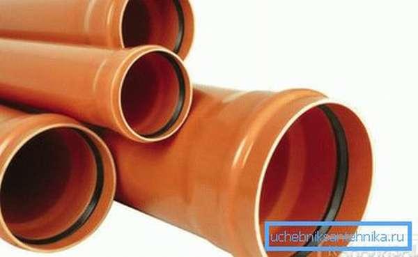 ПВХ трубы для внешней канализации