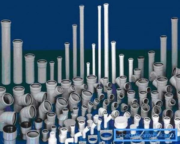 ПВХ-трубы – составные элементы канализационной системы