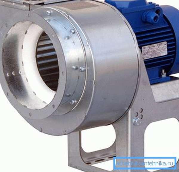 Радиальный (центробежный) вентилятор ВЦ 14-46.