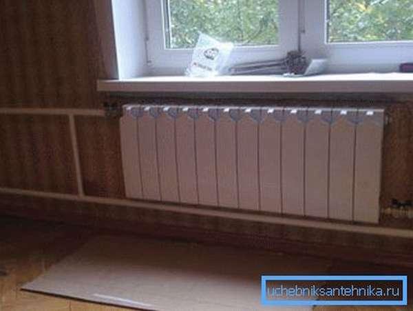 Радиатор отопления Rifar в системе центрального отопления