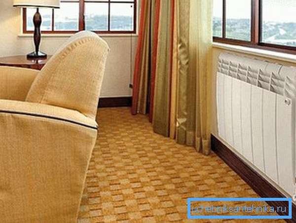 Радиатор отопления с алюминиевым теплообменником должен быть правильно установлен, чтобы обеспечить конвекцию воздуха