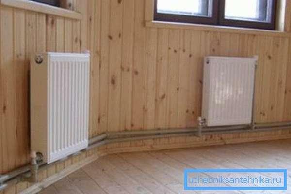 Радиаторный контур в помещении