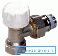 Радиаторный угловой клапан гармонично вписывается в общую концепцию системы отопления