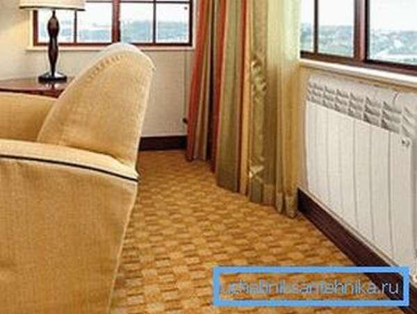 Радиаторы биметаллические - высотой секции 570 мм можно использовать на лоджии