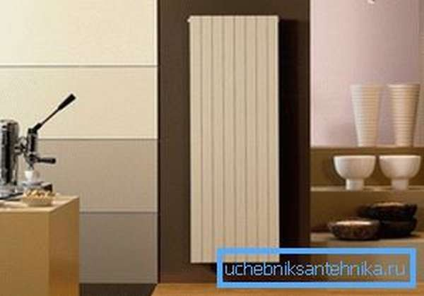 Радиаторы отопления водяные вертикальные смотрятся эстетично