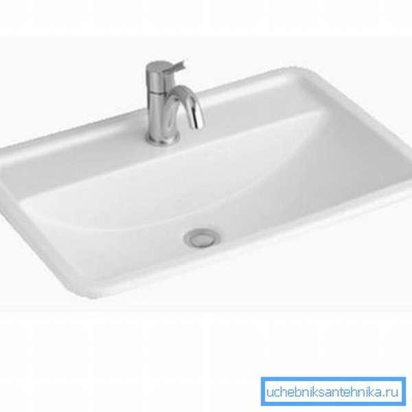 Раковина 60х40 – укороченный вариант для малогабаритных ванных комнат