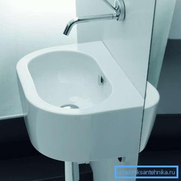 Раковина для ванной без отверстия под смеситель Kerasan Flo