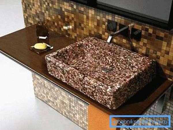 Раковина-мозаика своими руками (бетон)