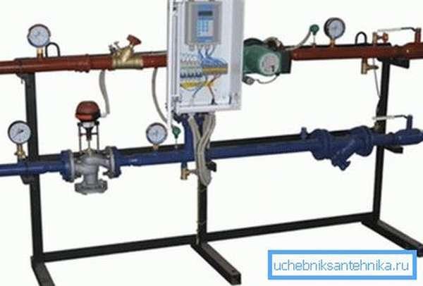 Рамка управления отоплением позволяет реализовать автоматическую работу системы.