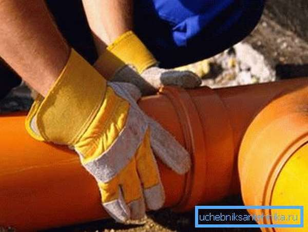 Раструбный способ монтажа используется при соединении канализационных труб