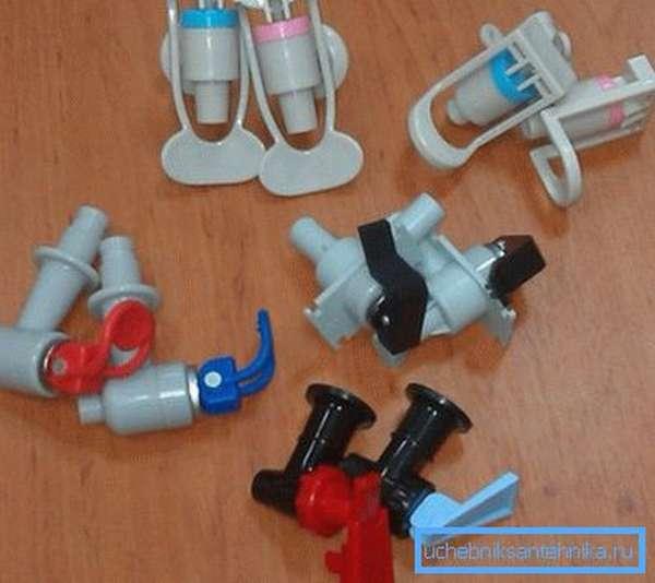 Различные модели кранов для кулеров