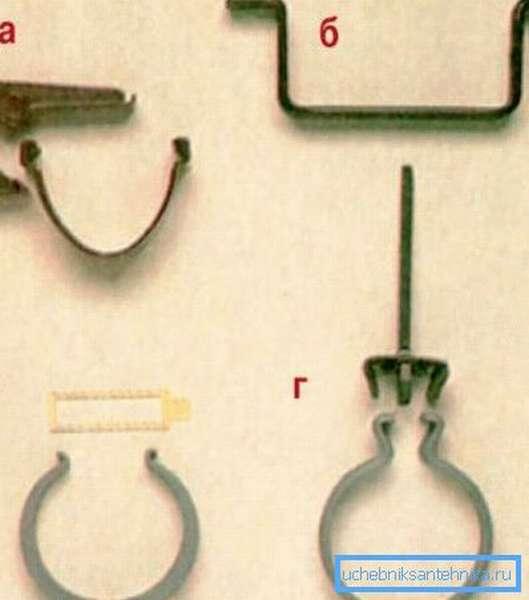 Различный крепежный материал, предназначенный для данного вида работ