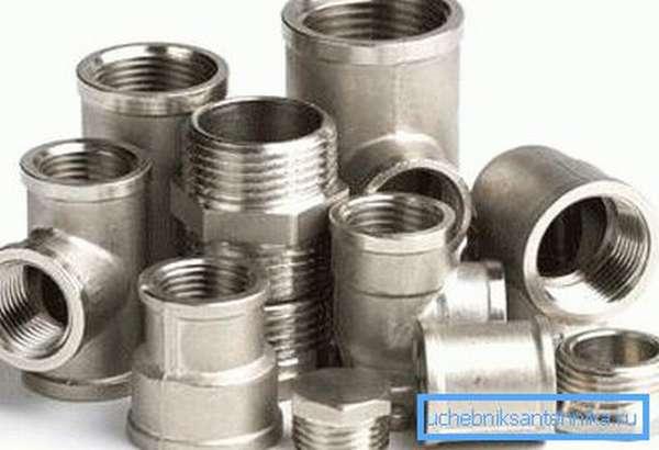 Размеры фитингов для радиаторов подбираются согласно диаметру трубопроводу