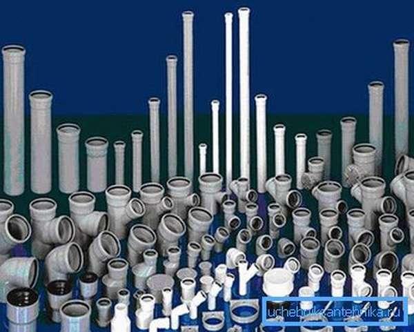 Разновидности пластиковых канализационных труб