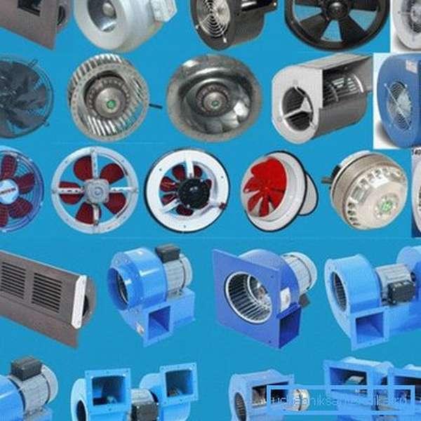 Разновидности вытяжных вентиляторов